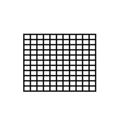 grid row icon vector image