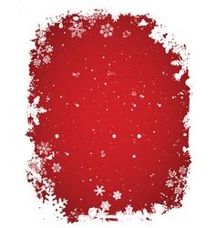 grunge snow vector image