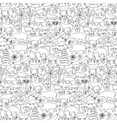 Hand drawn North America seamless pattern vector image vector image