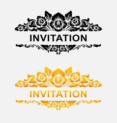 Invitation floral ornament decoration vector image vector image