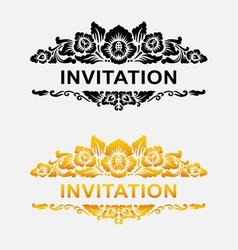 Invitation floral ornament decoration vector image