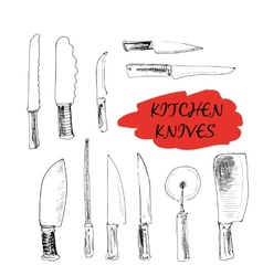 Kitchen knives vector