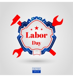 Labor day icon on grey background vector