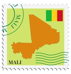 mail to-from Mali vector image vector image