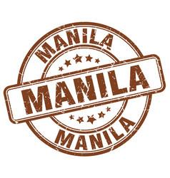 Manila brown grunge round vintage rubber stamp vector