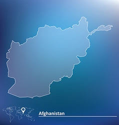 Map of afghanistan vector