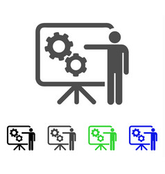Mechanical gears project board flat icon vector