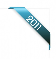new year 2011 ribbon vector image