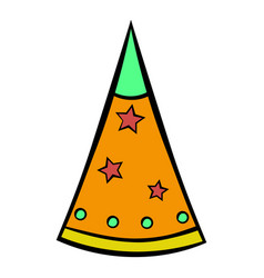 Party hat icon cartoon vector
