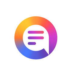 speech bubble logo colorful logo design vector image