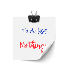 to do list vector image vector image