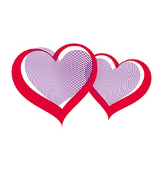 Valentine's day two hearts vector