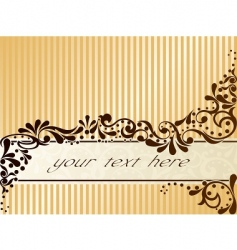 vintage sepia banner horizontal vector image vector image