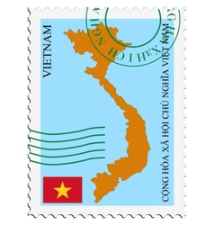Mail to-from vietnam vector