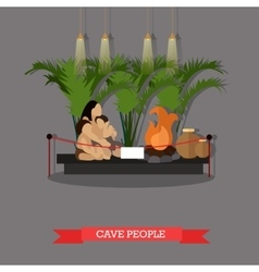 Cave people exposition in vector