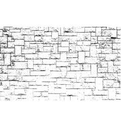 Distressed overlay texture of old brickwork vector