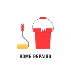 roller and bucket like home repairs vector image