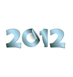 2012 made from blue stickers vector