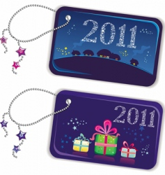 New year trinket tags 2010 vector