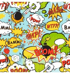 Comic boom seamless pattern vector image