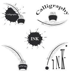 Set of logos for calligraphy vector