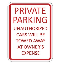 Private parking vector