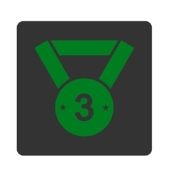 Third medal icon from award buttons overcolor set vector