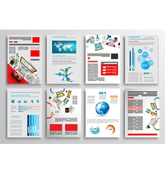 Set of flyer design web templates brochure designs vector