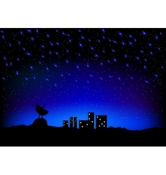 Night sky city scape vector