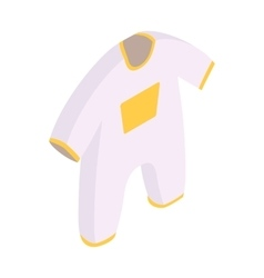 New born clothes isometric 3d icon vector