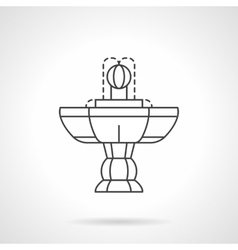 Vintage fountain flat line icon vector