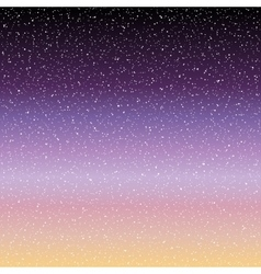 Stars in the night sky vector
