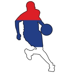Basketball colors of serbia vector