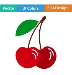 Flat design icon of Cherry vector image