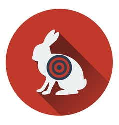 Icon of hare silhouette with target vector image