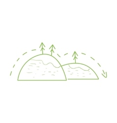 Hiking In The Mountains Simple Map vector image