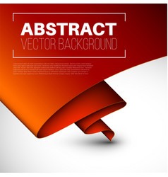 abstract background with folded red paper vector image
