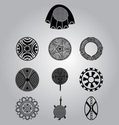 african cultural symbolic ornaments set vector image
