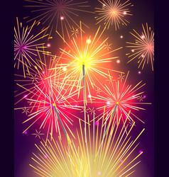 Bengal light fire firework sparkler isolated vector
