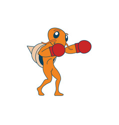 Boxing hermit crab vector
