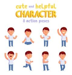 Boy mascot vector image vector image