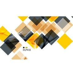 Bright yellow geometric modern design template vector