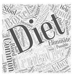 Common diets for irritable bowel syndrome word vector