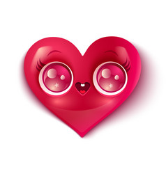 cute heart vector image vector image