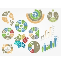 Diagrams and graphs the concept of ecology and vector