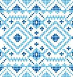 Ethnic geometric ornament pattern background vector image