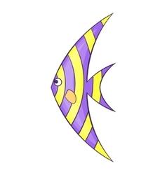 Fish zanclus icon cartoon style vector image vector image