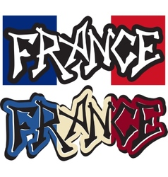 France word graffiti different style vector image vector image
