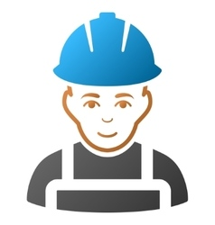 Glad worker gradient icon vector