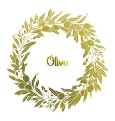Graphic olive wreath vector